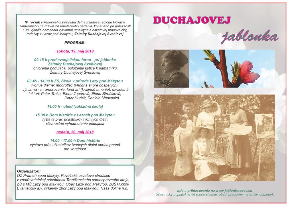 Duchajovej jablonka 2018 plagát web final