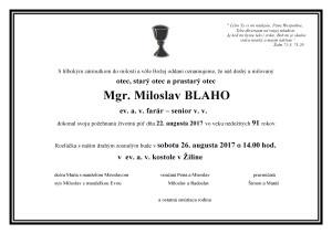 Parte - M. Blaho