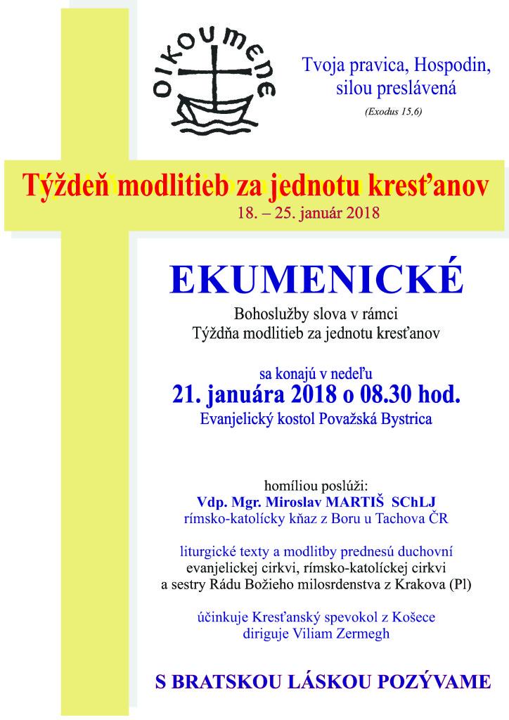 ekumenicke bohosluzby plagát 2018